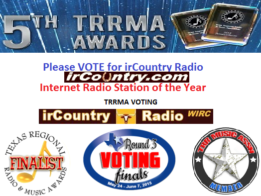 Please VOTE for irCountry Radio - TRRMA Internet Radio Station of the Year